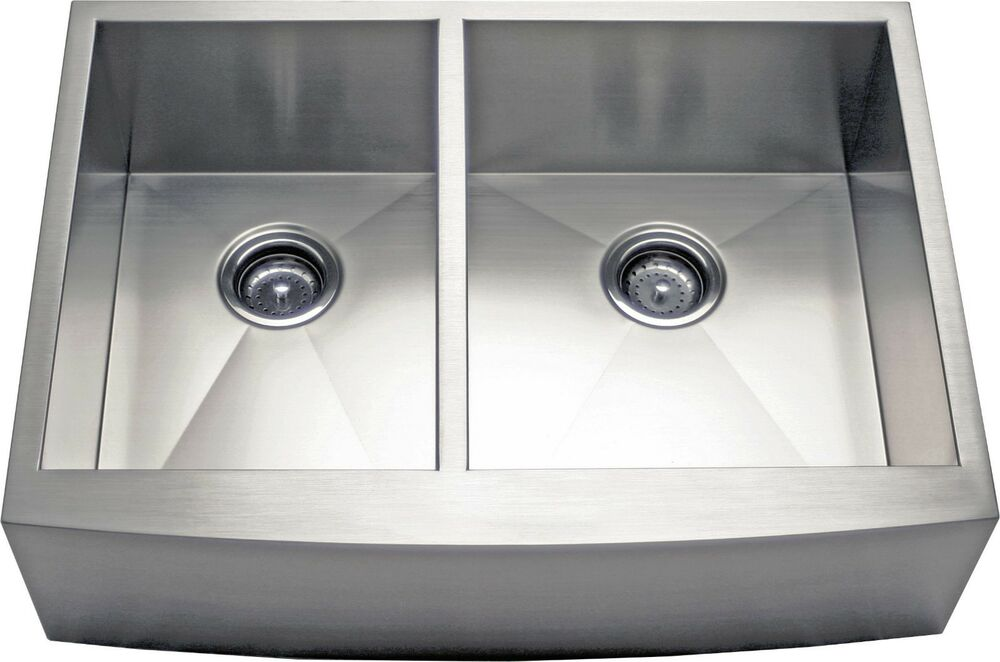 ... Apron Farmhouse Stainless Steel Kitchen Sink -AP3319BS- 9R Deep eBay