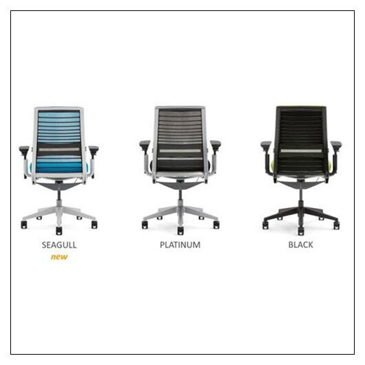 steelcase think chair r 3d knit back with cogent. Black Bedroom Furniture Sets. Home Design Ideas