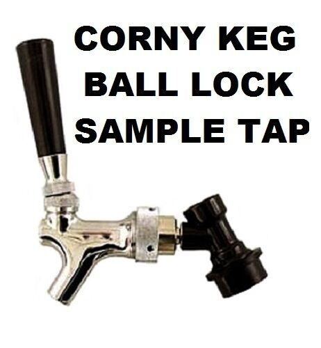 BEER TAP SAMPLING FAUCET W/ BALL LOCK QUICK DISCONNECT For
