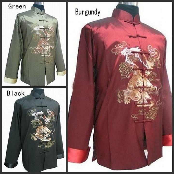 traditional chinese clothing men tang suit embroider