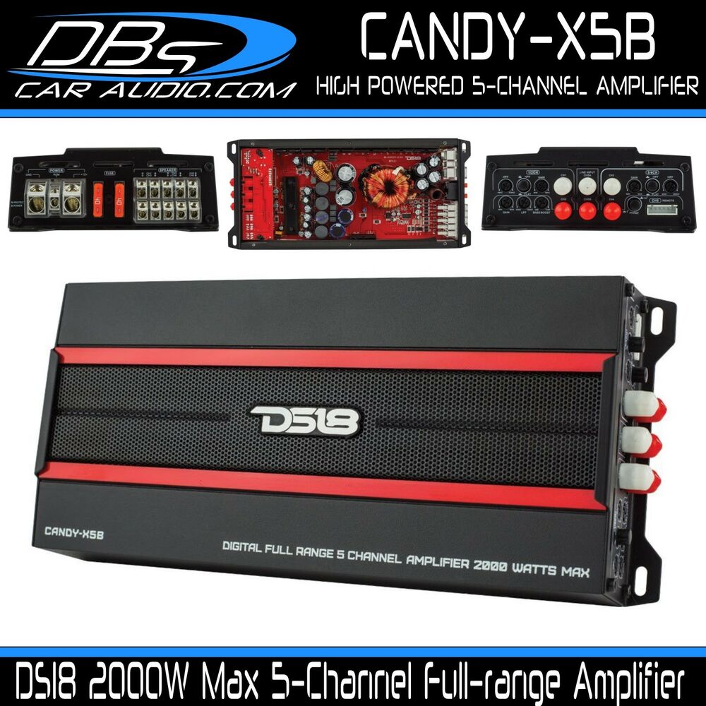 5 Channel Car Stereo Amplifier Ds18 Candy X5b 2000w Max Class D Rfk1d Dual Amp 0 Gauge Awg Wiring Kit Audio Direct Speaker Sub Ebay