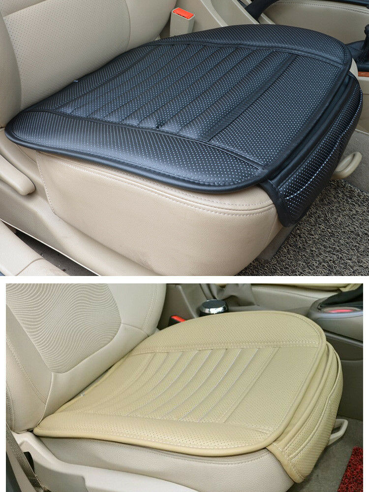 hot sale pu leather car seat pad bamboo charcoal mat for auto chair cushion ebay. Black Bedroom Furniture Sets. Home Design Ideas