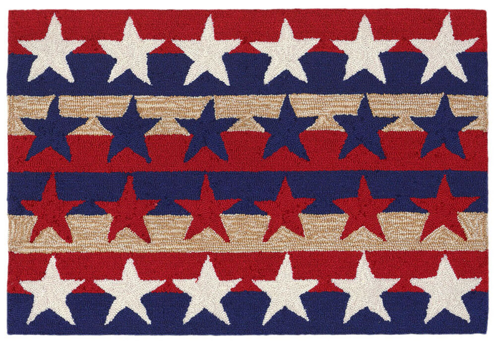 Area Rugs Patriotic Stars And Stripes Rug Indoor