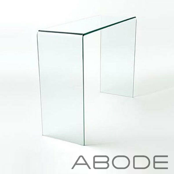 Curved Glass Console Table Small Large Clear Dining Bent