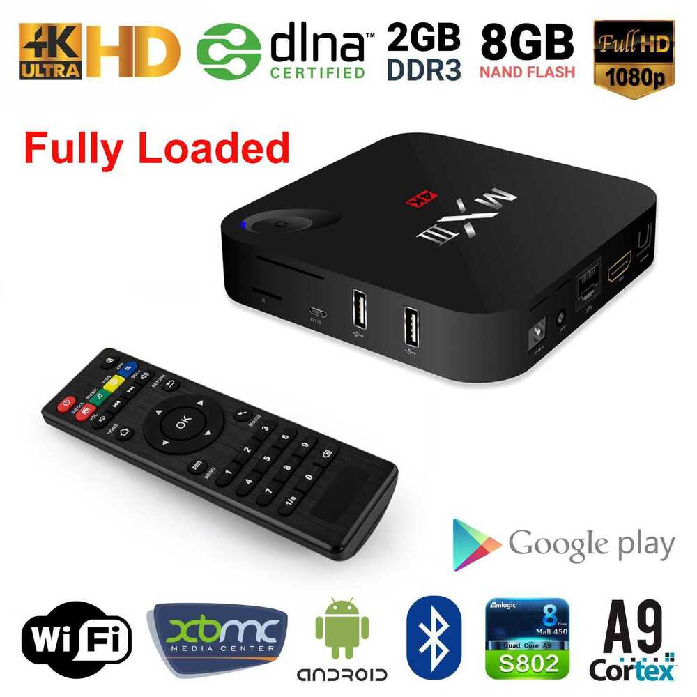 mx3 4k hdmi smart tv box android 4 4 s812 quad core 2g 8g wifi bt4 0 internet tv ebay. Black Bedroom Furniture Sets. Home Design Ideas