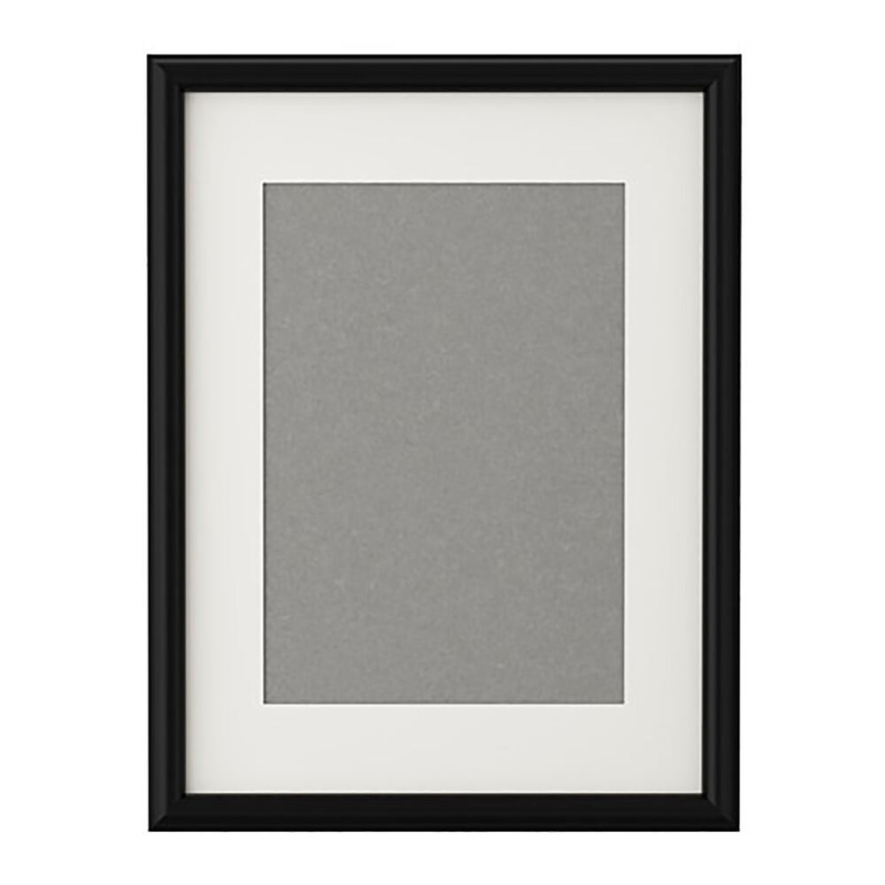 Ikea black picture frame with mount poster prints photo for Poster ikea