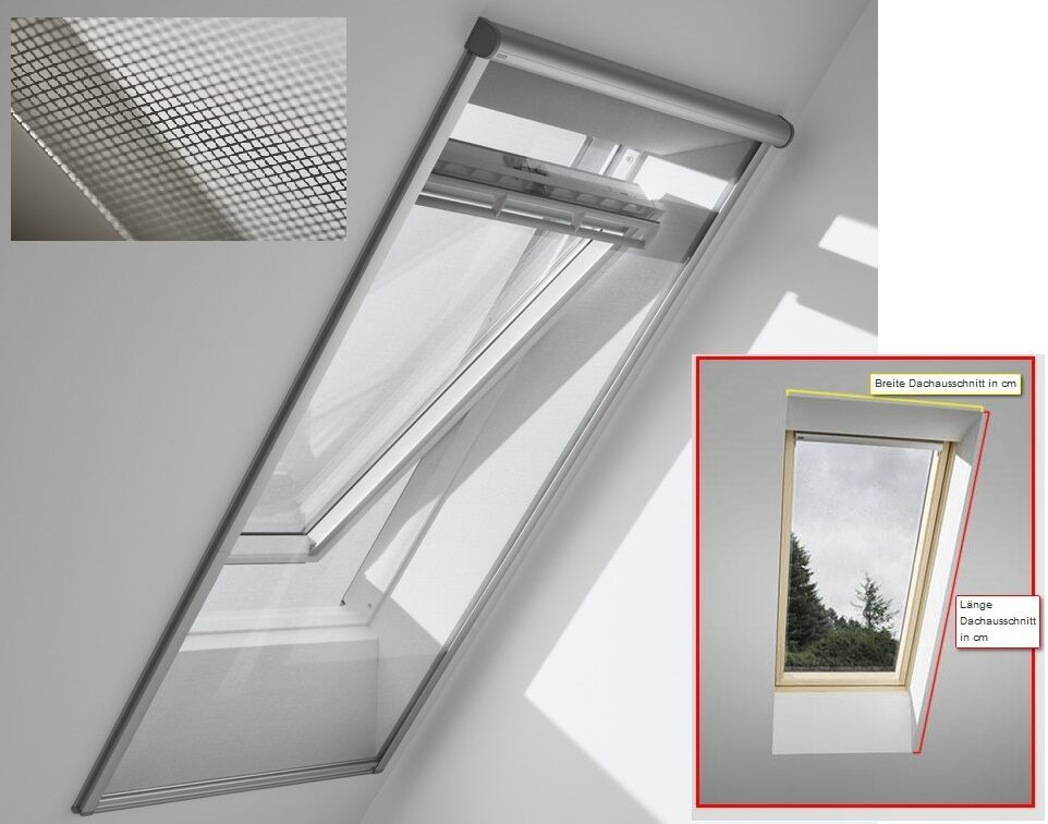 velux insektenschutzrollo zil fliegengitter m ckenschutz f r fakro roto skylight ebay. Black Bedroom Furniture Sets. Home Design Ideas