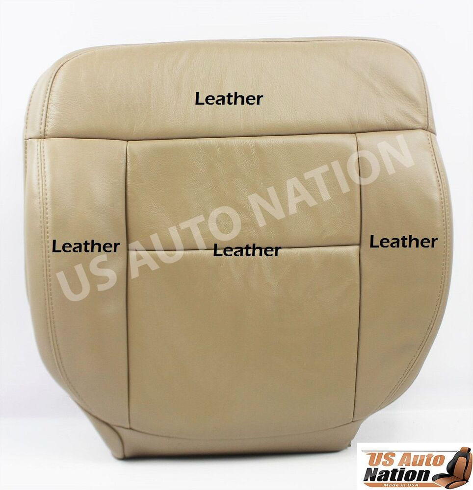 seat f150 ford replacement driver 2005 2007 leather 2006 tan bottom 2008 lariat cushion power pebble