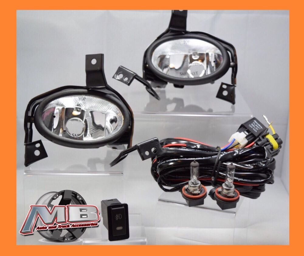 2010 2011 Honda Crv Replacement Clear Fog Light Kit Wiring Switch Ebay Pilot Harness