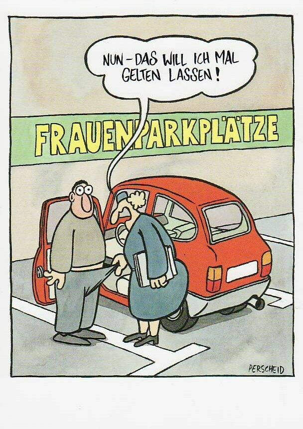 Postkarte Humor Cartoon Frauenparkpl Tze Das Will