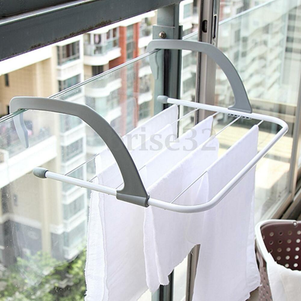 Multifunction folding clothes rack drying laundry hanger for Tendedero ropa exterior
