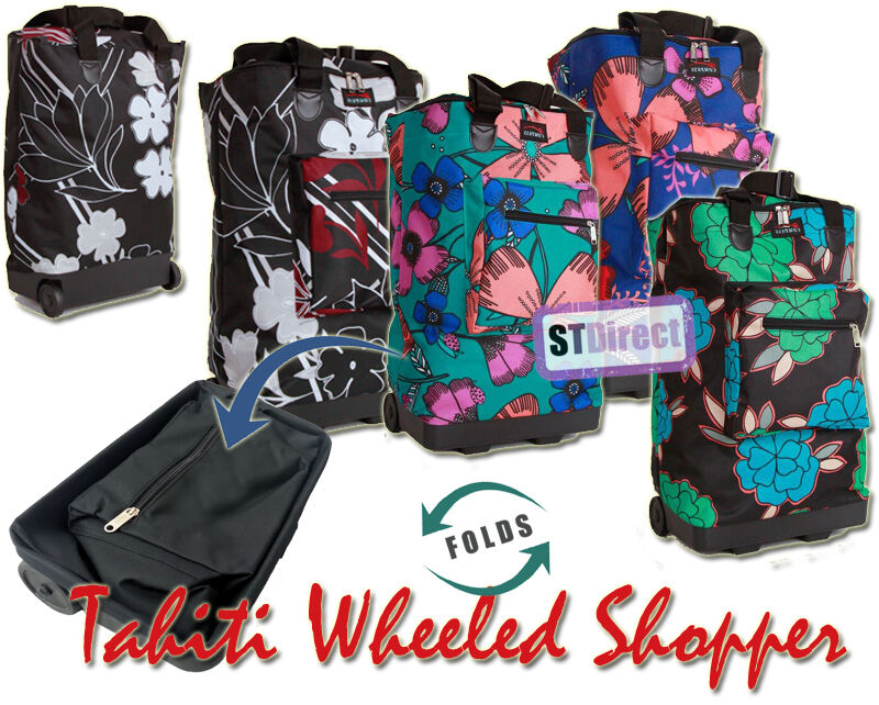 0a81979118 Funky Folding Lightweight Shopping Bag on 2 Wheels with Adjustable Dual  Strap