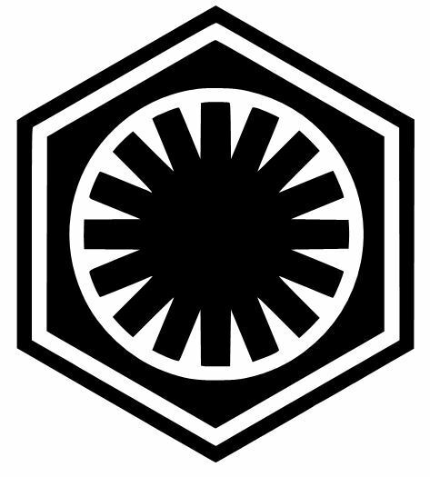 FIRST ORDER STAR WARS LOGO VINYL DECAL/STICKER CHOOSE SIZE/COLOR | eBay