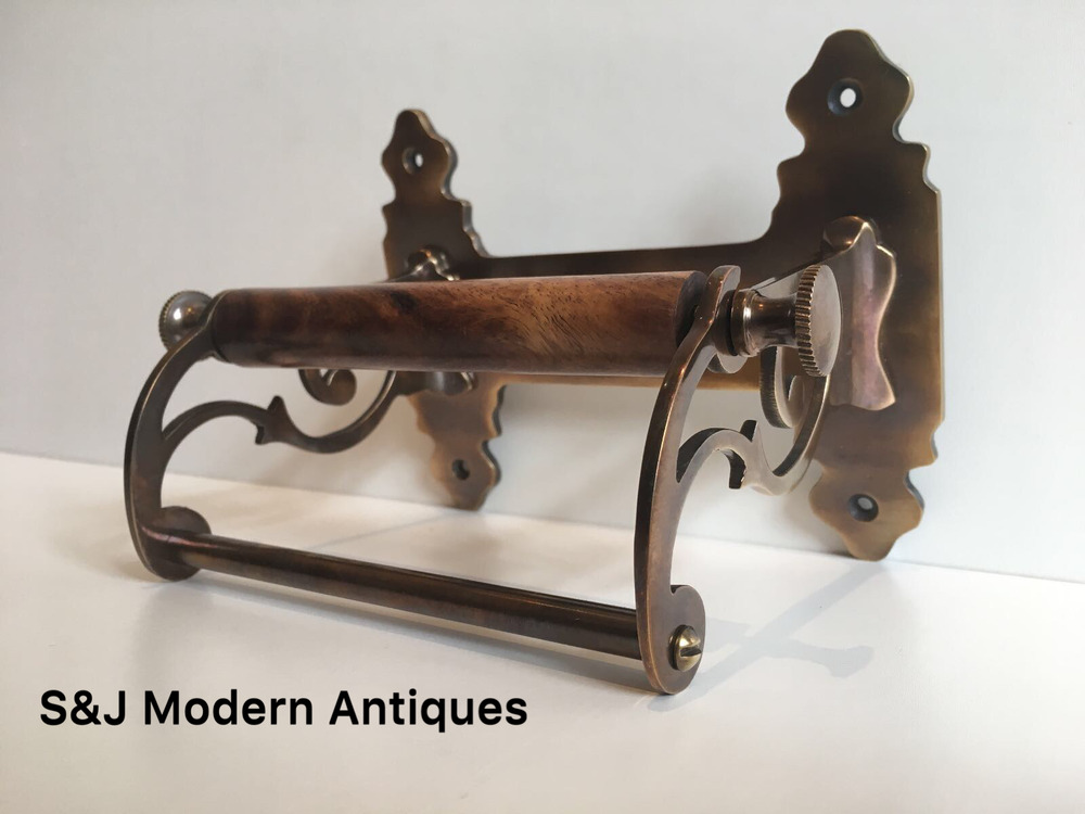 Vintage Toilet Roll Holder Victorian Antique Bronze: antique toilet roll holders