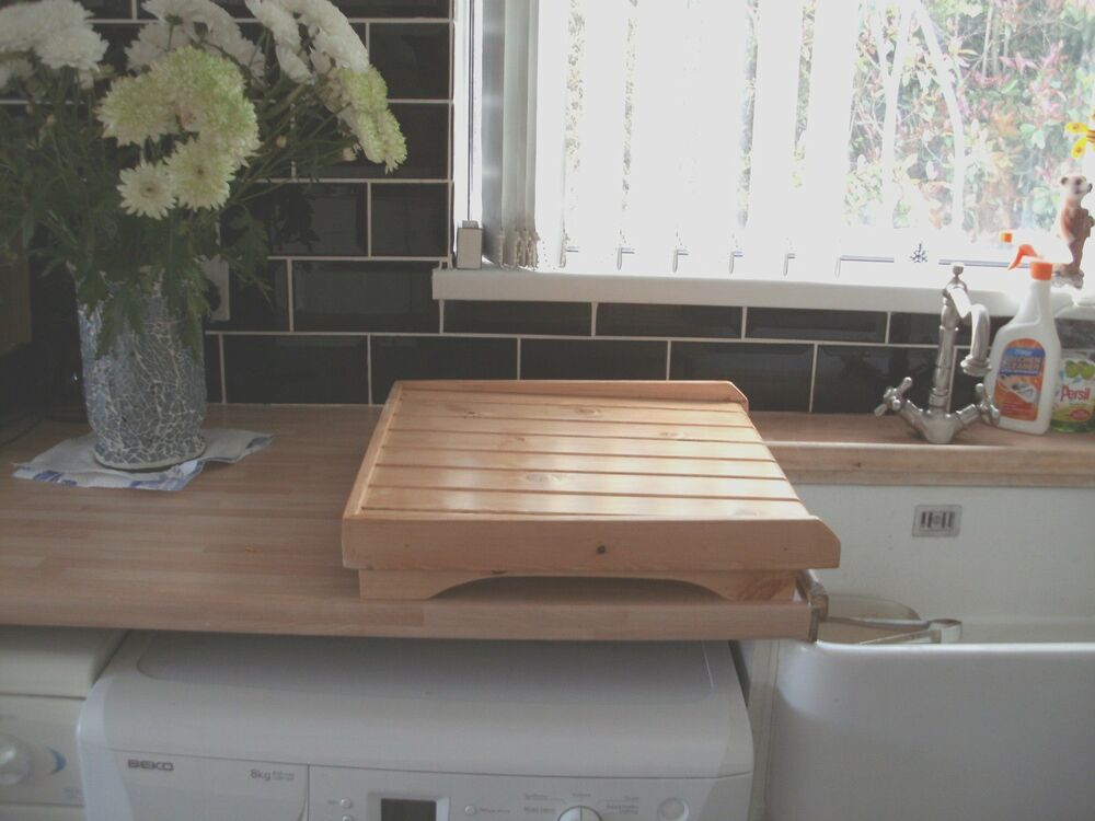 Belfast Sink Draining Board Raised Drainer Varnished Wood