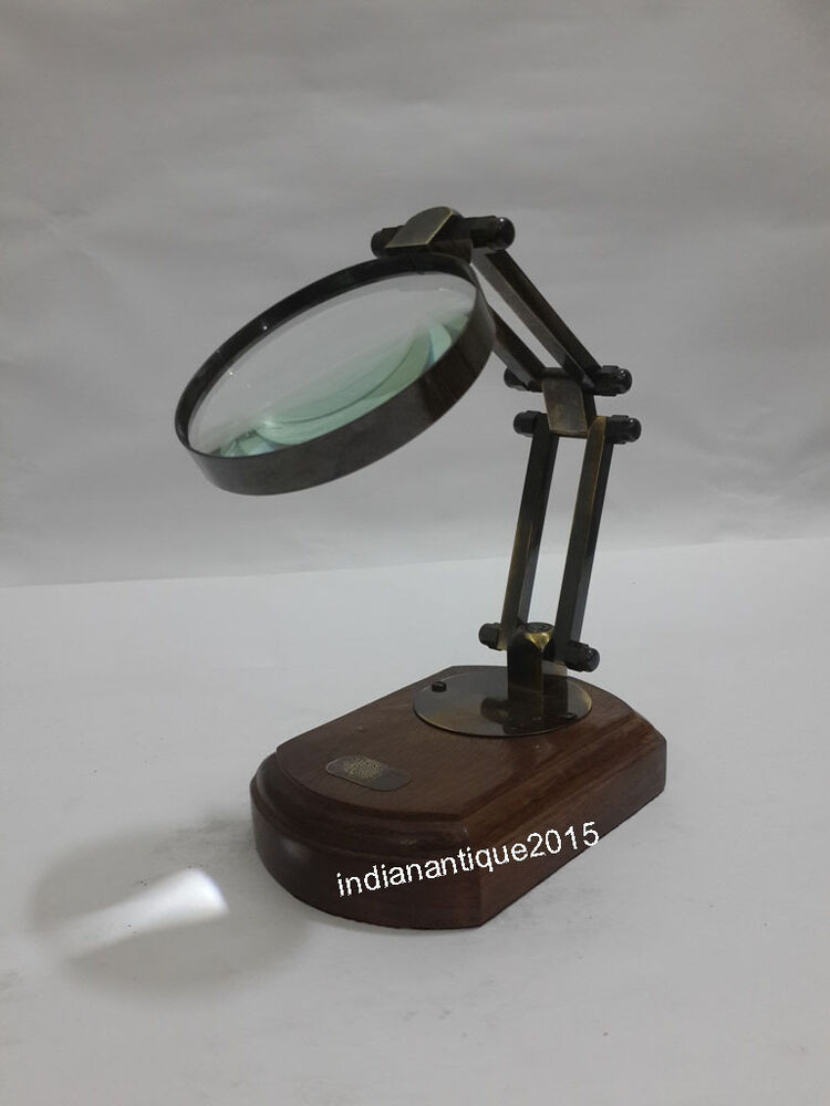 Desk Magnifying Glass : Desk table top magnifying glass magnifier nautical decor