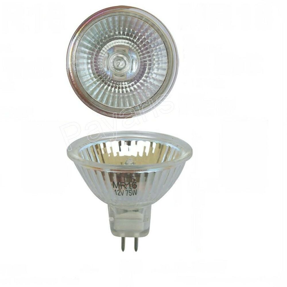 2 Pack Mr16 Clear Halogen Light Bulbs 12v Volt 75w Watts Ebay