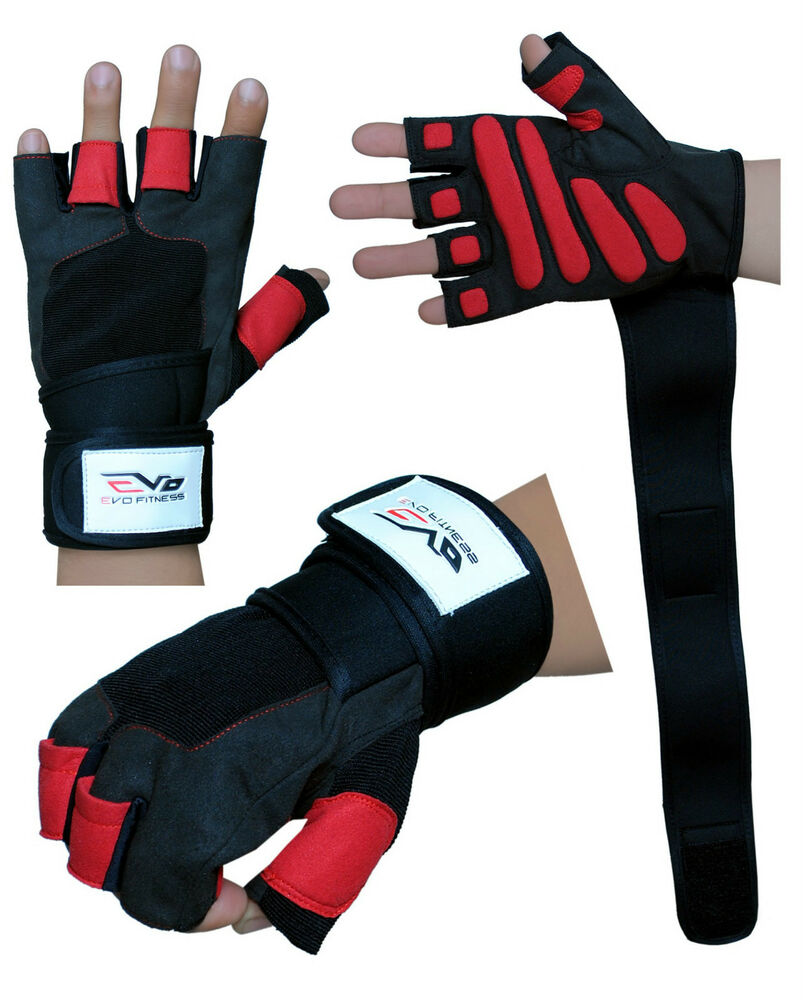 Gym Gloves Weight Lifting Leather Workout Wrist Support: EVO Fitness Gym Gloves Weightlifting Cycling Neoprene
