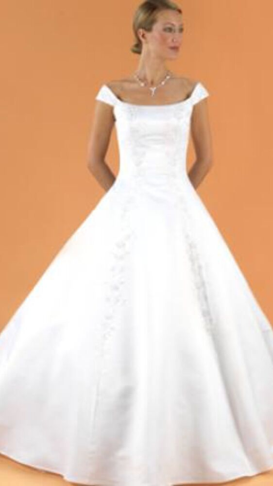 David S Bridal Michaelangelo Style 5221 White Wedding Gown
