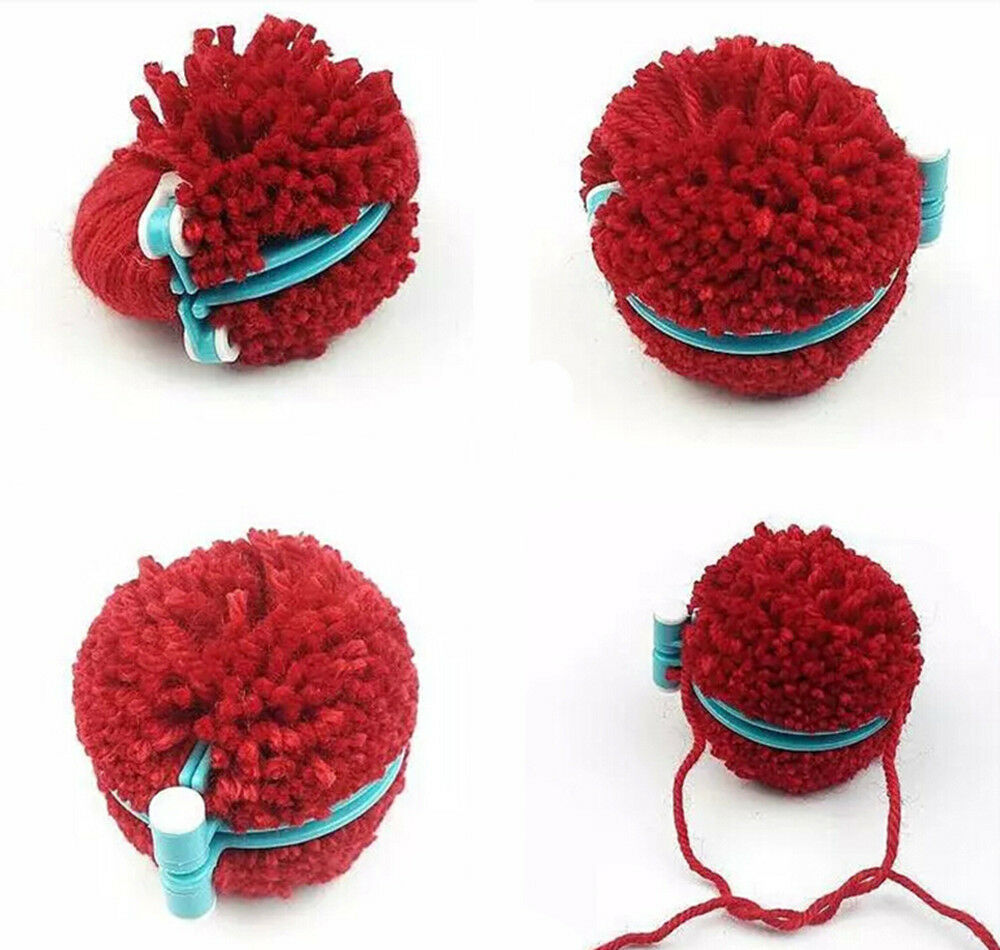 strickring set 8tlg strickrahmen knitting loom strickliesel haken pompom maker ebay. Black Bedroom Furniture Sets. Home Design Ideas
