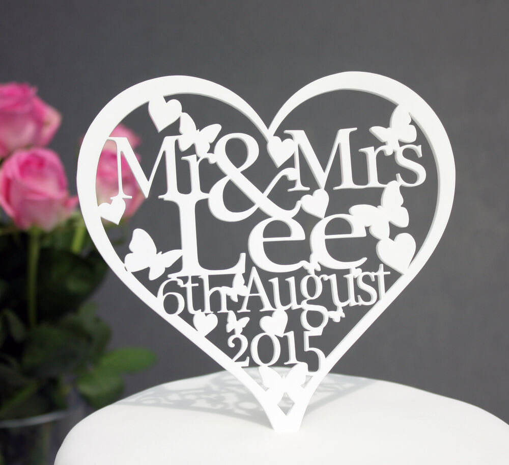 Heart Shaped Wedding Cake Toppers Uk