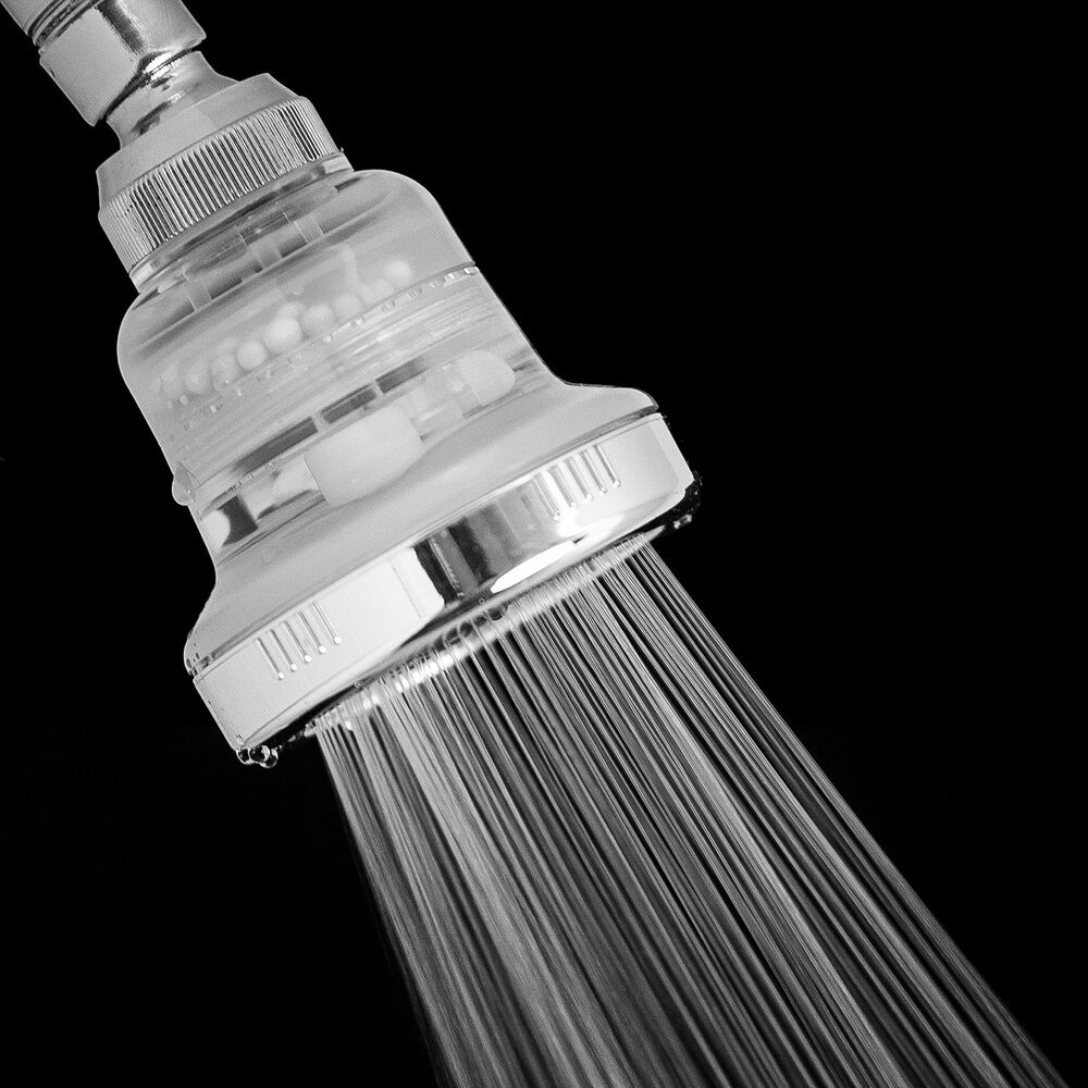 shower head filtered to remove chlorine quality replacement filter multipl ebay. Black Bedroom Furniture Sets. Home Design Ideas
