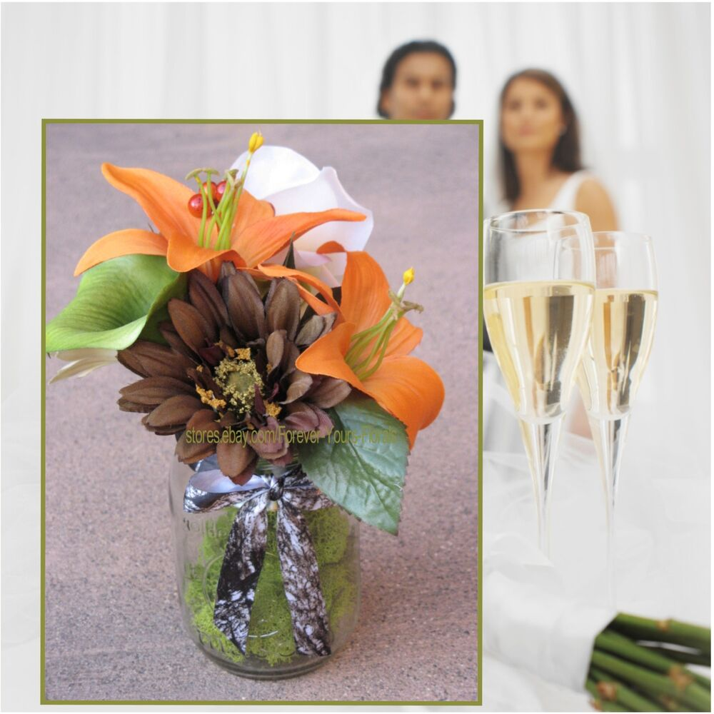 camo wedding supplies decorations 6 orange mossy oak new up table arrangements mossy 2417