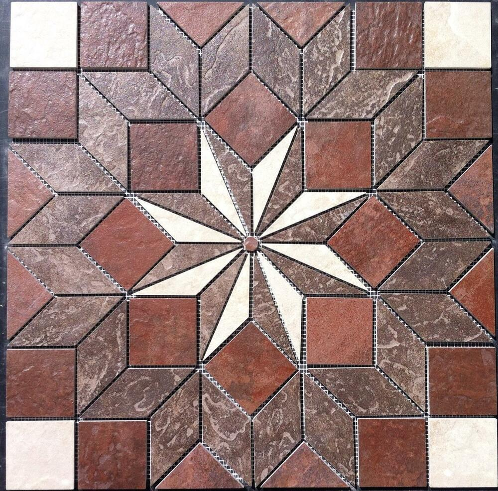 22 1 4 Tile Medallion Accent Daltile Continental Slate Tile Floor