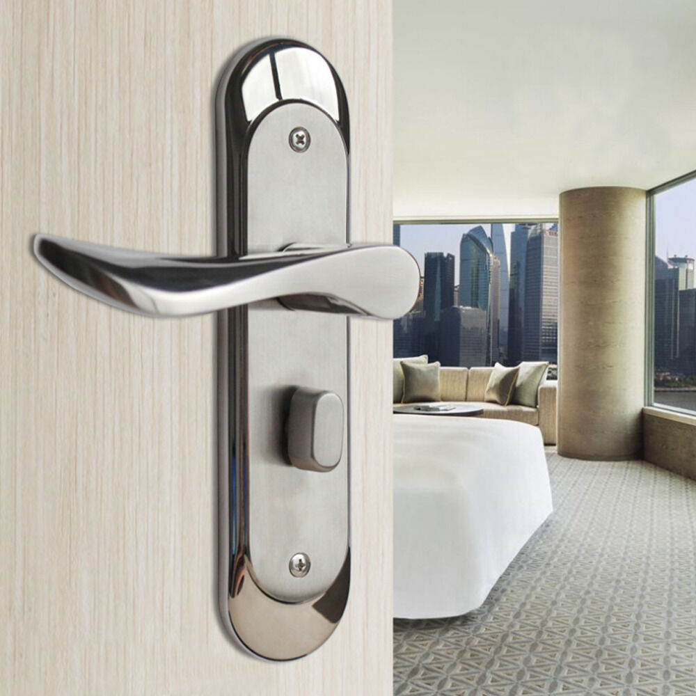 Privacy Door Security Entry Lever Mortise Stainless Steel Handle Locks Set Ebay
