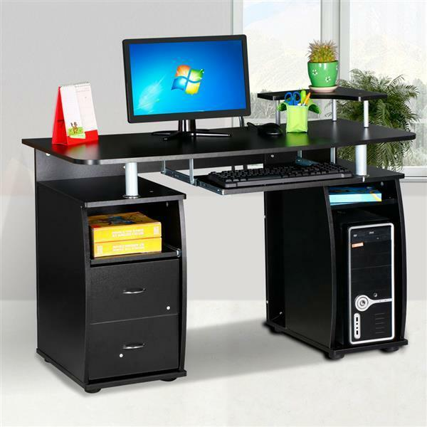 Home Office Executive Computer Desk PC Workstation Table