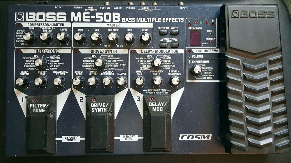 boss me 50b multi effects guitar effect pedal 761294085196 ebay. Black Bedroom Furniture Sets. Home Design Ideas