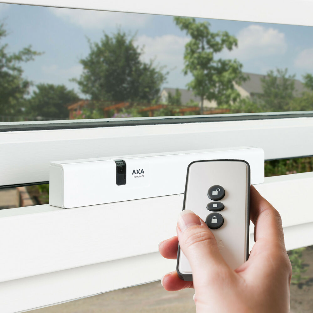 Axa remote 2 0 wireless window opener actuator winder for Motorized windows for the home