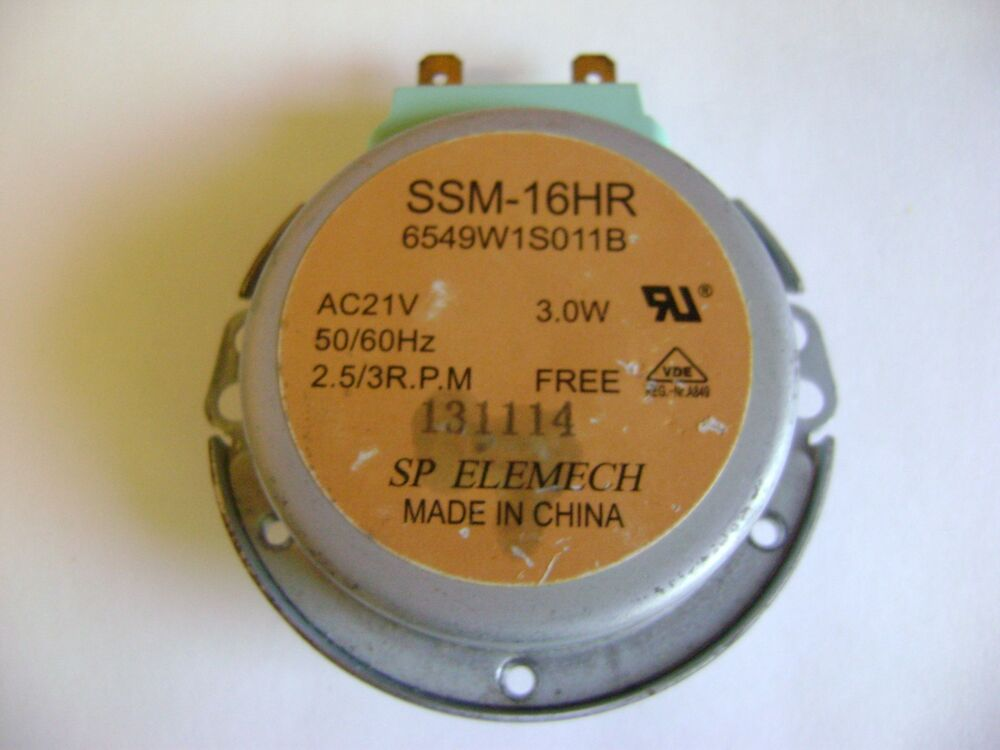Microwave oven ssm 16hr gm 16 2f302 turntable synchronous for Frigidaire microwave turntable motor