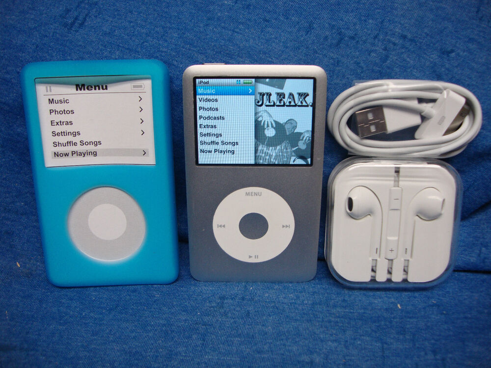 apple ipod classic 6th generation silver 80 gb with bundle. Black Bedroom Furniture Sets. Home Design Ideas