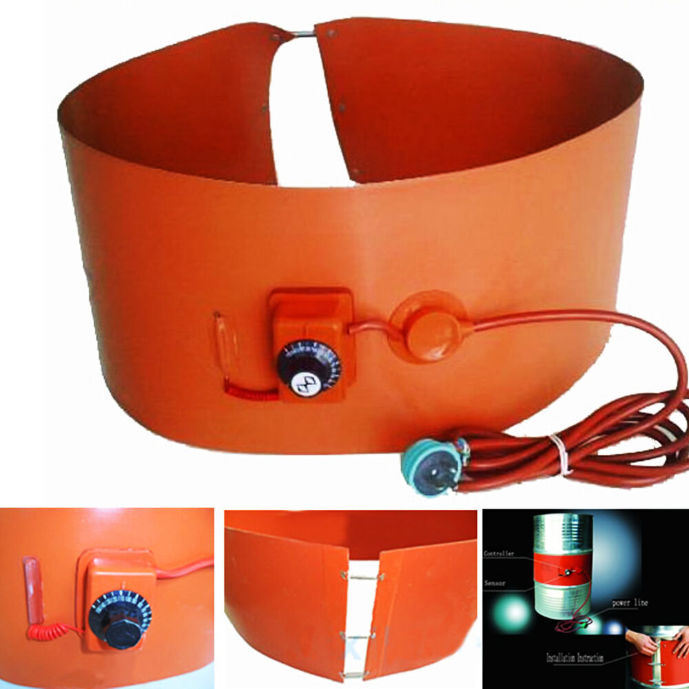 Adjustable Silicon Rubber Band 55 Gallon Heater For Metal