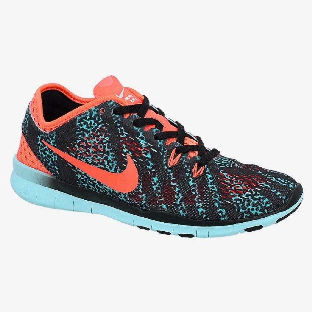 41e361bca9a4 Details about Womens NIKE FREE 5.0 TR FIT 5 PRINT Running Trainers 704695  007