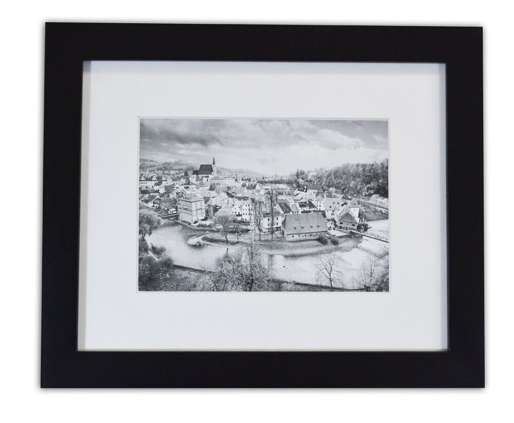8x10 Black Photo Wood Collage Frame With Real Glass And
