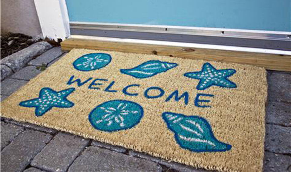 Door Mats Seashell Coir Welcome Mat Shell Door Mat