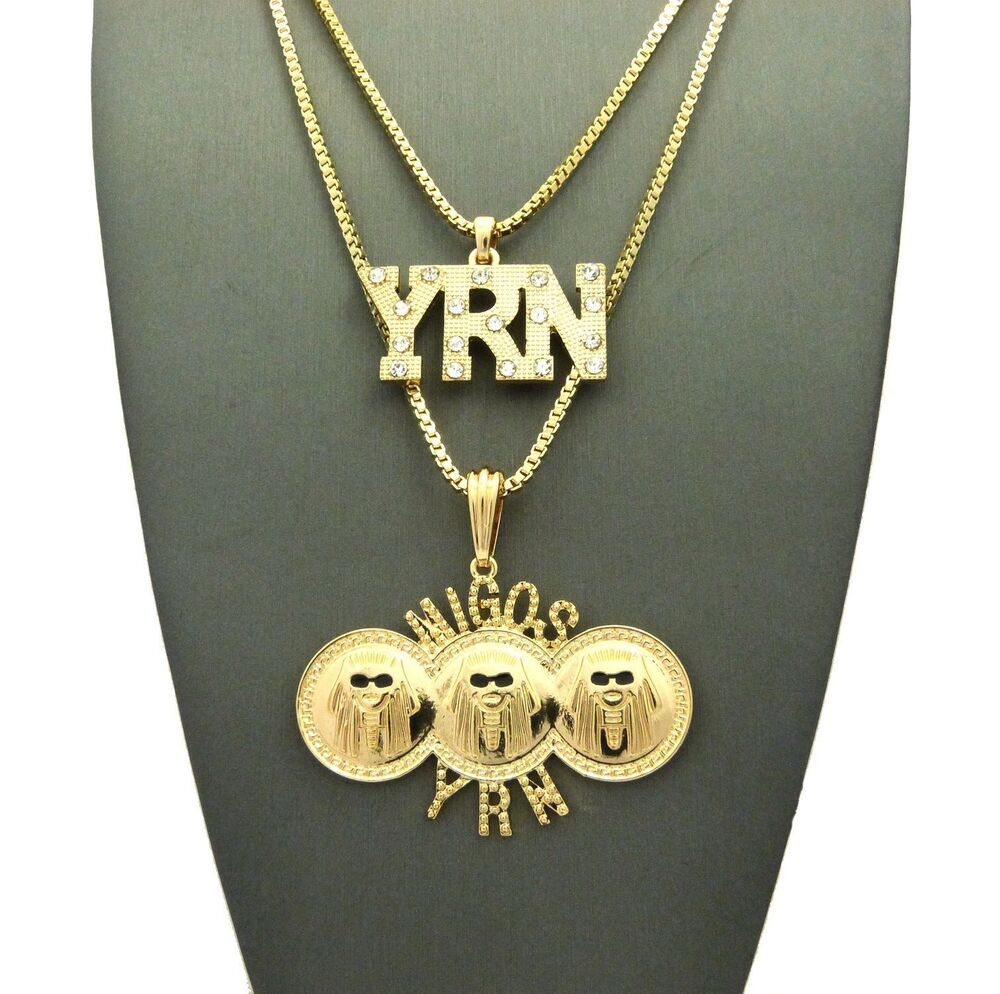 Gold chain necklace rapper