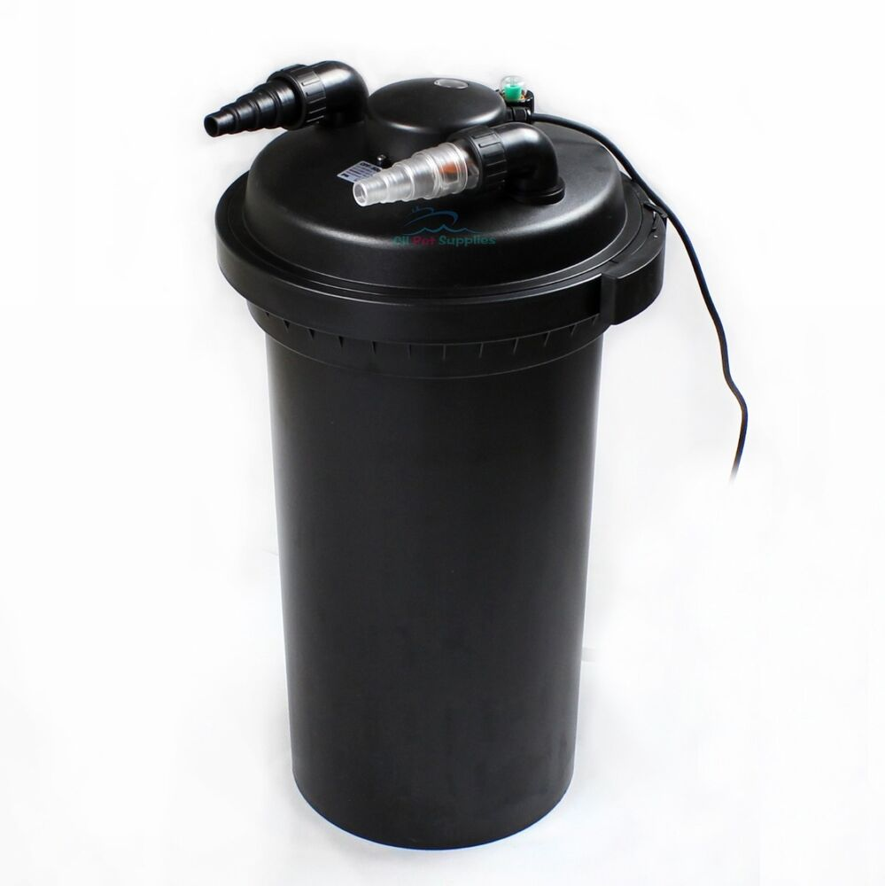 8000 gal pressure pond filter w 18w uv sterilizer koi for Koi pond filter setup