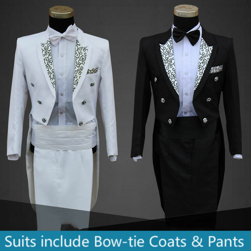 Mens Suit Amp Pants Wedding Formal Tail Folwer Trouse Tuxedo