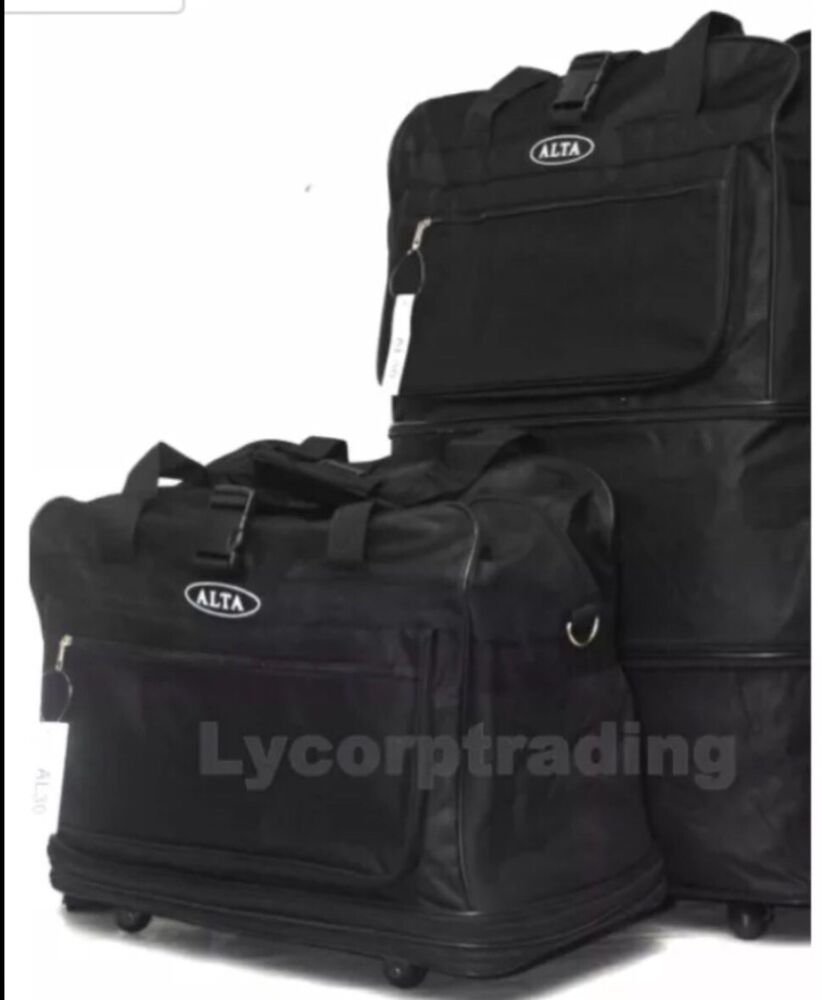 36 black rolling wheeled duffle duffel bag spinner. Black Bedroom Furniture Sets. Home Design Ideas