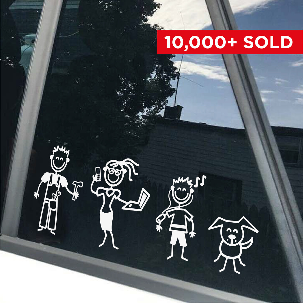 my car stick family car window bumper vinyl decal