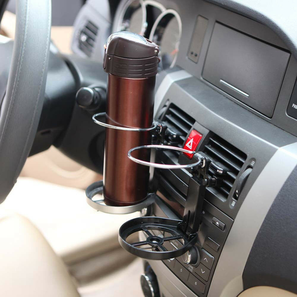 car suv interior outlet mount black foldable water cups beverage bracket holder ebay. Black Bedroom Furniture Sets. Home Design Ideas
