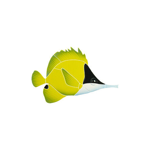 Long Nosed Butterfly Fish Ceramic Swimming Pool Mosaic Ebay