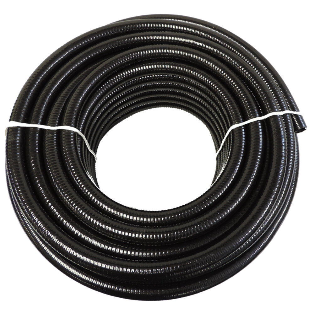 1 2 x 25 39 black flexible pvc pipe hose pond tubing for for Garden pond hose