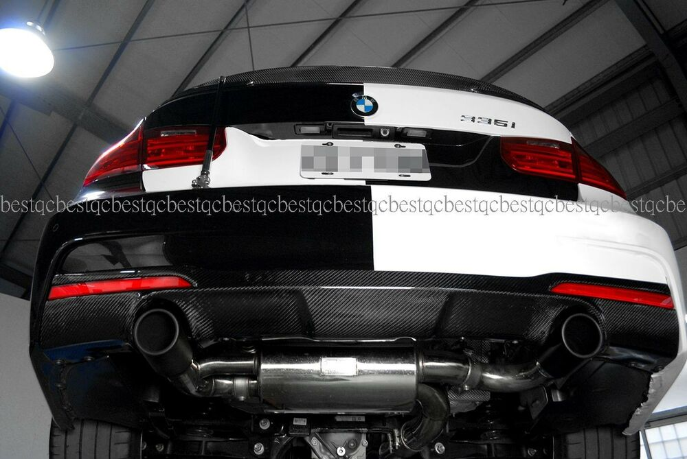 Carbon Rear Diffuser Dual Exhaust Style For Bmw F30 335i M