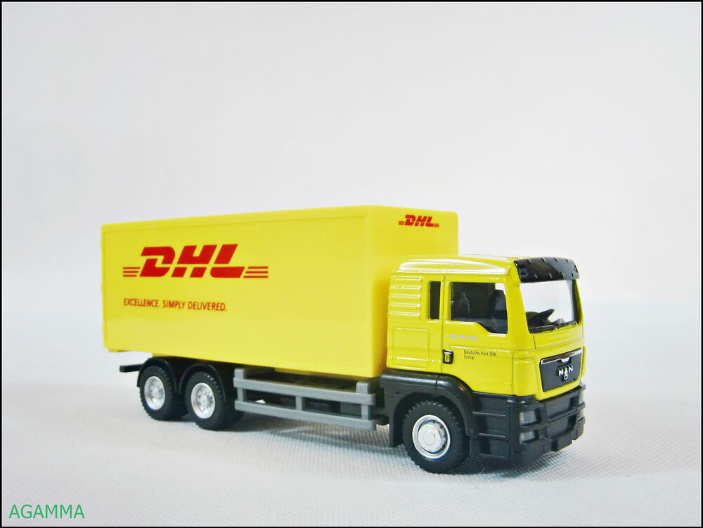 lkw modell dhl 1 64 diecast spielzeug automodell kinder. Black Bedroom Furniture Sets. Home Design Ideas