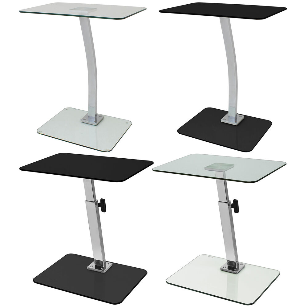 GLASS LAPTOP COMPUTER/NETBOOK STAND/DESK/TABLE/TRAY ADJUSTABLE