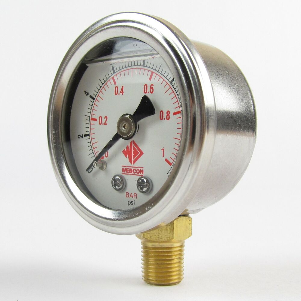 High Quality fuel pressure gauge 0-15psi for carb systems ...